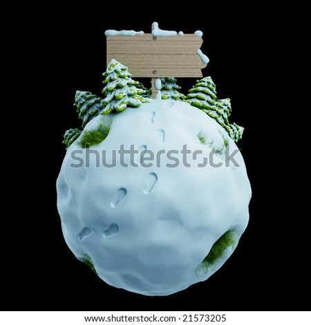 winter illustration - stock photo