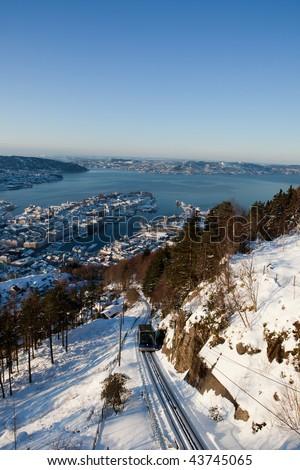 Winter in Bergen - stock photo