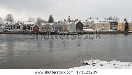 Winter in New England, Portsmouth, New Hampshire, USA - stock photo