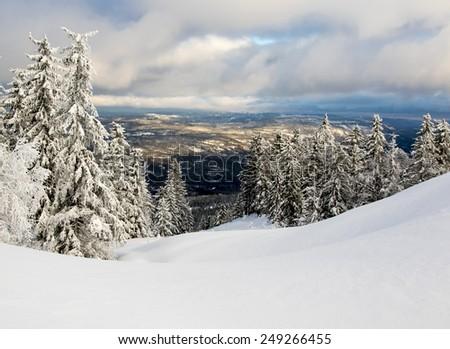 Winter in Norway - stock photo