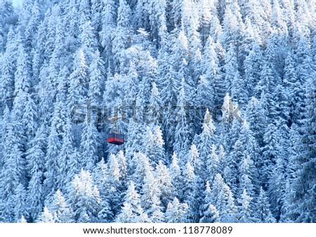 Winter in Poiana Brasov - stock photo