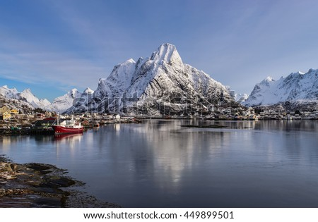 Winter in Reine, Lofoten Islands, Norway