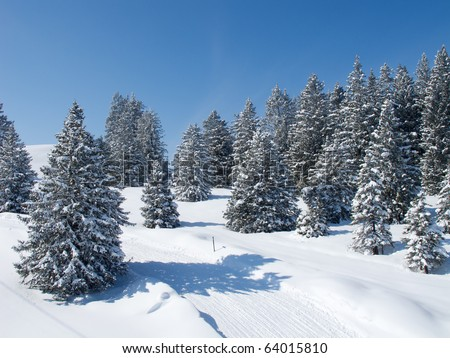 Winter in swiss alps (Flumserberg, St. Gallen, Switzerland)