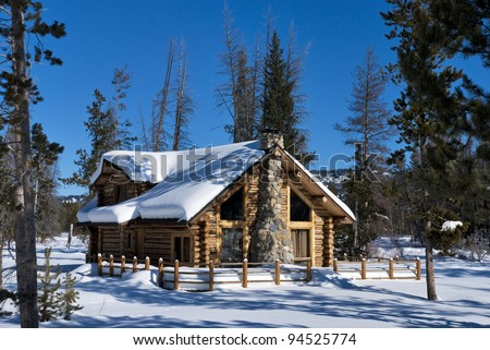Log Cabin Snow Stock Images Royalty Free Images Amp Vectors