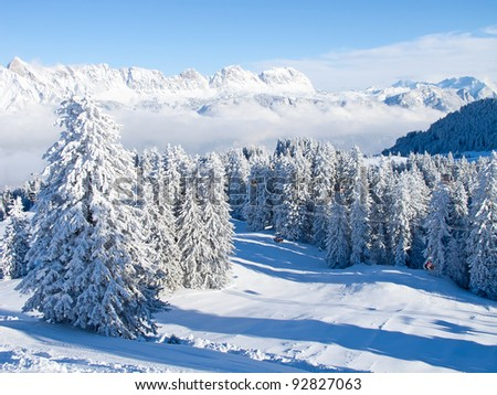 Winter in the swiss alps, Switzerland
