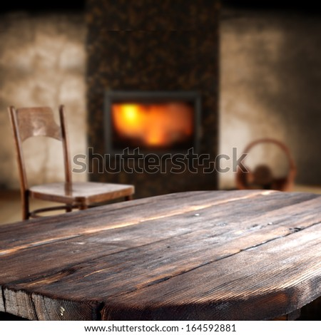 winter interior  - stock photo