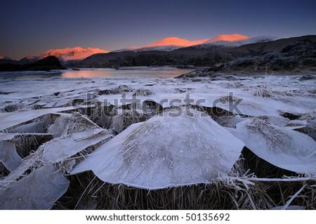 Winter Ireland Killarney National Park - stock photo