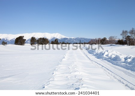 Winter landscape at Lake Baikal.