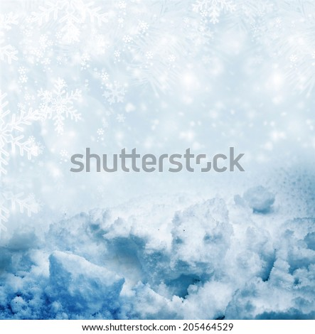 Winter landscape. Background. - stock photo