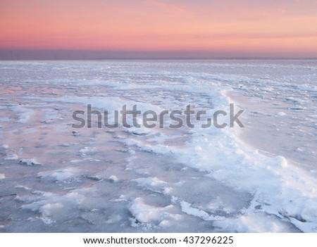 Winter landscape. Composition of nature. - stock photo