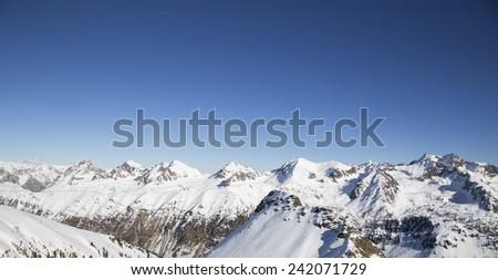 winter landscape in France - stock photo