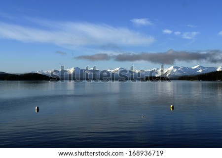 Winter Landscape in Juneau, Alaska - stock photo