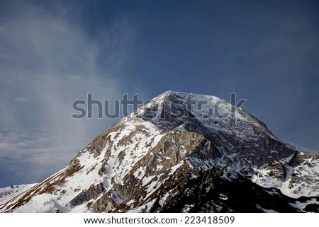 Winter landscape in the Bulgaria - stock photo