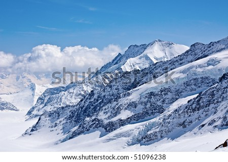 Winter landscape in the Jungfrau region
