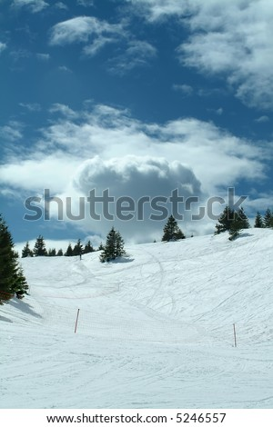 Winter landscape, Kopaonik, Serbia - stock photo