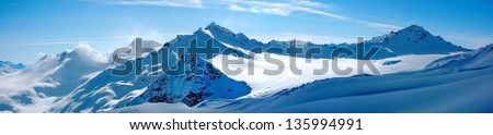 Winter landscape - Panorama of the mountains