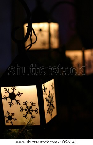 Winter Lanterns - stock photo