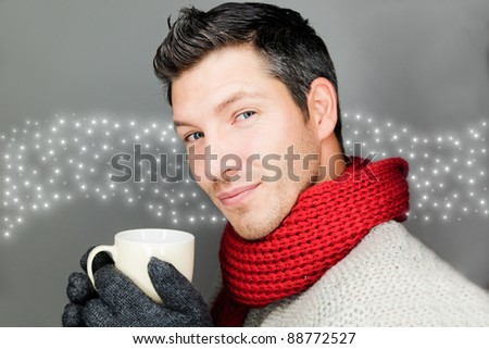 winter male - stock photo