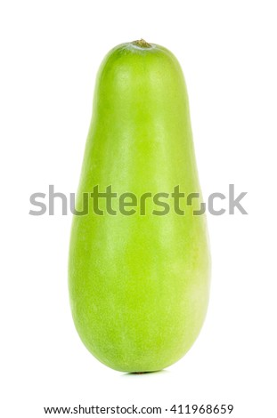 Winter melon isolated on the white background. - stock photo