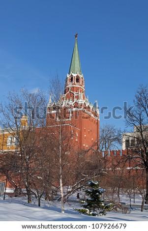 Winter. Moscow Kremlin - stock photo