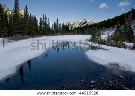winter mountain lake landscape