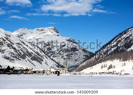 Winter mountain landscape, Dolomite Alps, Italy