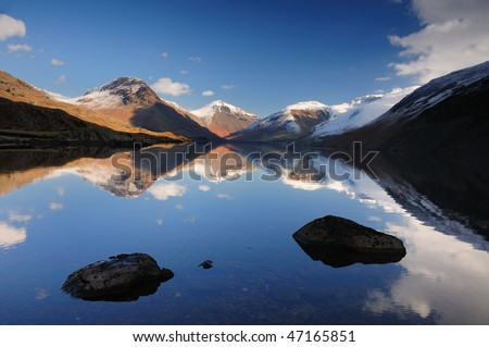 Winter mountain reflections, English Lake District