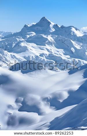 Winter mountains - stock photo