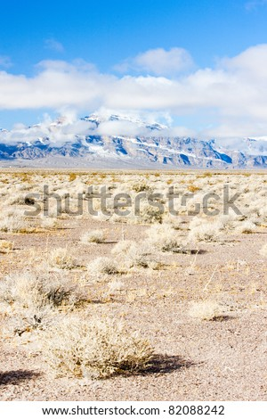 winter mountains in Nevada, USA