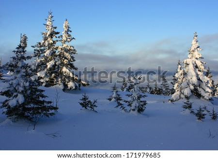 """Winter mountains. South Ural, backbone of """"Taganay"""", Russia. - stock photo"""