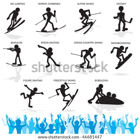 Winter Olympic Sports-vector at id=46563895