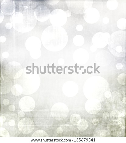 Winter or Christmas abstract background with grey and blue tones. With metallic grunge overlay. - stock photo