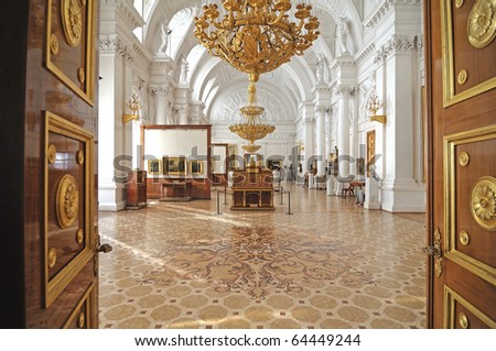 Winter palace. interior. gallery of arts - stock photo