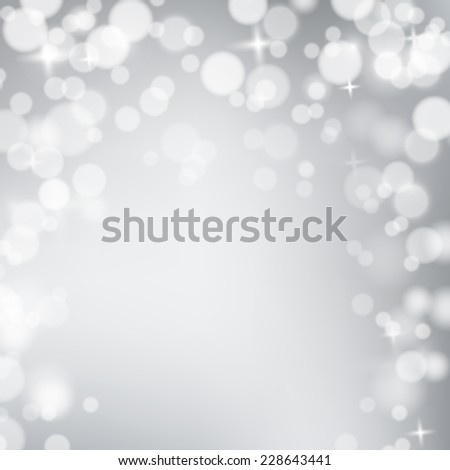 Winter pastel background with blurred snowflakes. Holiday trendy design. Frosted backdrop for Christmas greeting cards, banners etc - stock photo