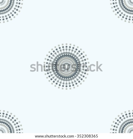 winter pattern of snowflakes gentle blue background bitmap image - stock photo