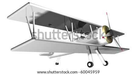 Winter plane - stock photo