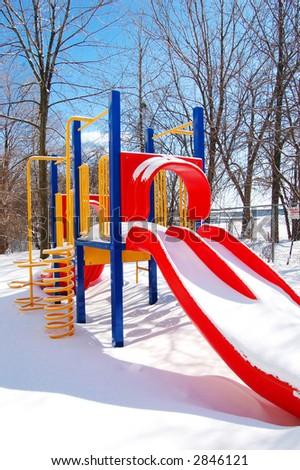 Winter playground - stock photo