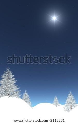 winter post-card - stock photo