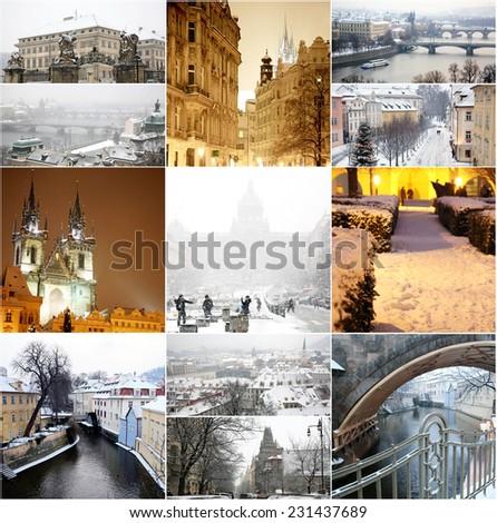 Winter Prague  - stock photo