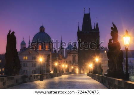 Winter Prague Czech republic