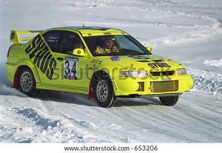 Winter rally - stock photo