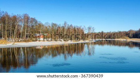 Winter reflections in Southern Sweden