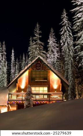 Winter Resort Chalet - stock photo