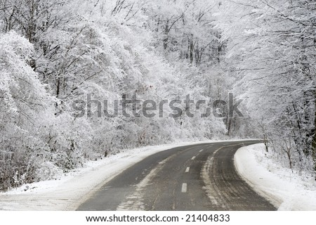 winter road 8. - stock photo