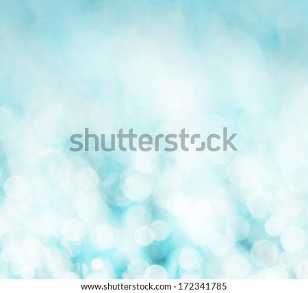 winter's abstract background - boke, glitters and sparkles - stock photo