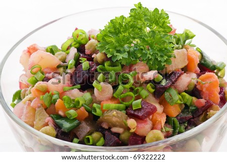 Winter Salad - stock photo