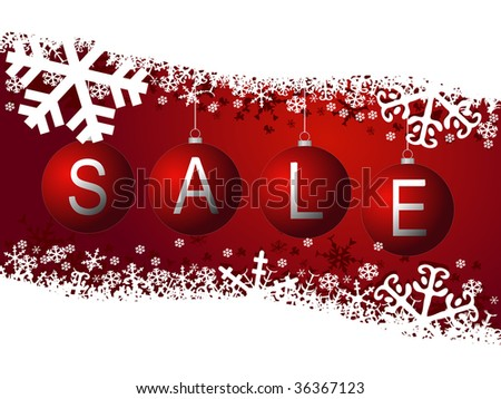 winter sale - stock photo