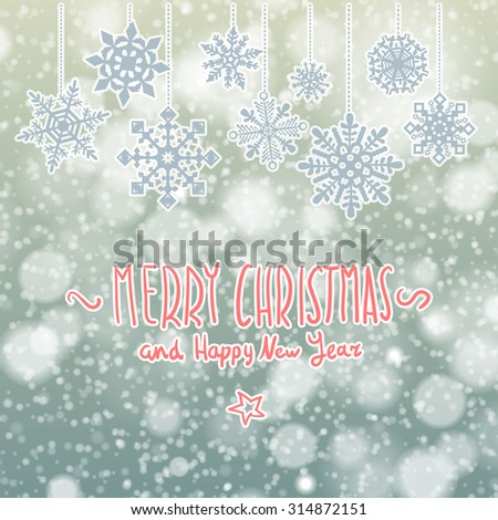 Winter sale background banner and snow. Sale. Winter sale. Christmas sale. New year sale.  illustration  - stock photo
