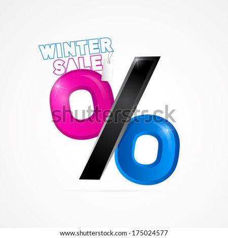 Winter Sale Object Isolated on White Background - Also Available in Vector Version
