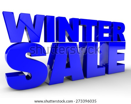Winter Sale over white background - stock photo